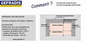 Porte De Garage Sectionnelle Sur Mesure : prendre ses mesures pour sa porte de garage sectionnelle ~ Dailycaller-alerts.com Idées de Décoration