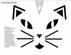 Download, Cat, Face, Pumpkin, Carving, Pattern, Stencil, Template, Designs, Free
