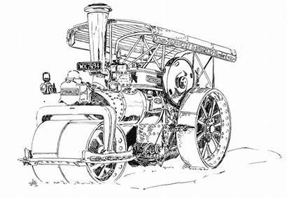 Steam Sketch Ink Sketches Cerney Extravaganza Gloucestershire