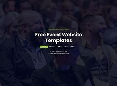 18 Most Promising Free Event Website Templates 2018 Colorlib