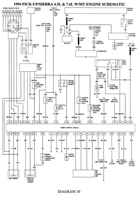 Trailer Wiring Diagram 1997 Chevy 1500 by 1994 Gmc Wiring Diagram Gas Engine Vin Fuel Pumps