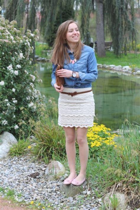 salope cuisine jupe dentelle chemise jean mode bijoux pieces