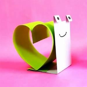 Bricolage Facile En Papier : escargot d 39 amour en papier ~ Mglfilm.com Idées de Décoration