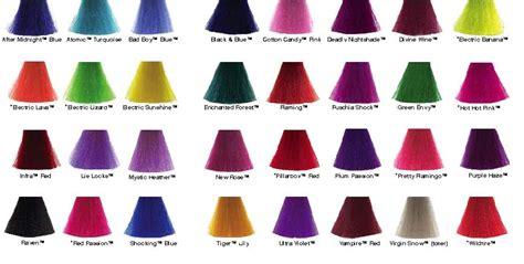manic panic color chart kilakila glam gyaru hair color ideas for me