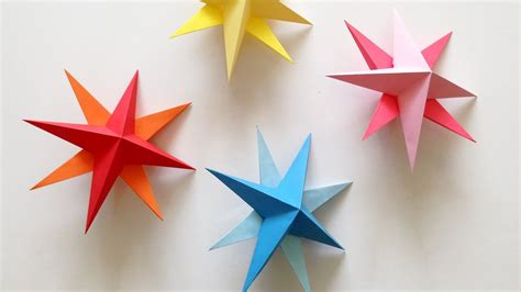 diy hanging paper 3d star tutorial for christmas birthday