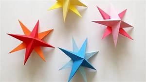 DIY Hanging Paper 3d Star Tutorial for Christmas, Birthday ...