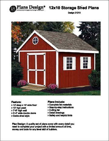 10x12 Gable Storage Shed Plans by 12 X 10a Gable Storage Shed Project Plans Design 21210 Ebay
