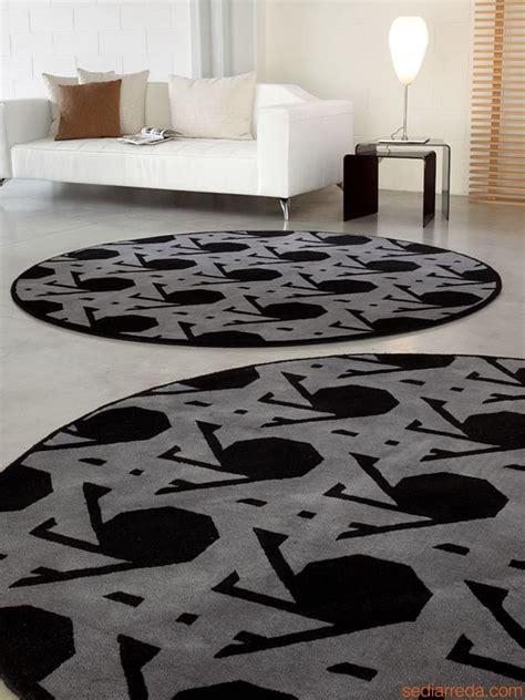 tappeto rotondo grigio 7102 lienz tappeto rotondo in grigio con decori