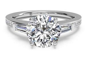 solitaire engagement rings with band what is a baguette engagement ring ritani