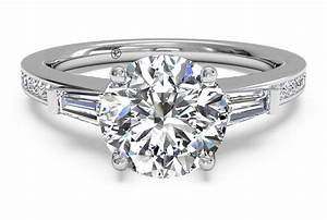 what is a baguette diamond engagement ring ritani With wedding rings with baguette diamonds