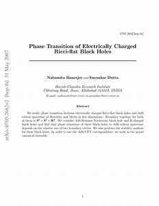 Phase Transition of Electrically Charged Ricci-flat Black ...