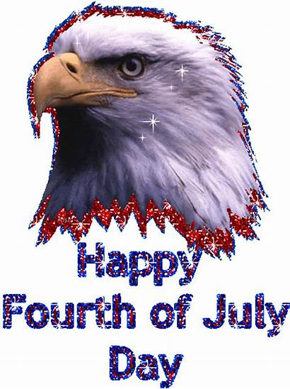 4th July Happy Graphics Eagle Glitter Fourth