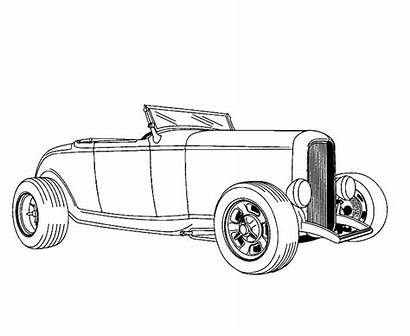 Rod Coloring Pages Cars Drawing Sheets Rods