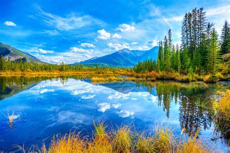 Beauty Clouds Lakes Landscapes Mountains Nature Quiet