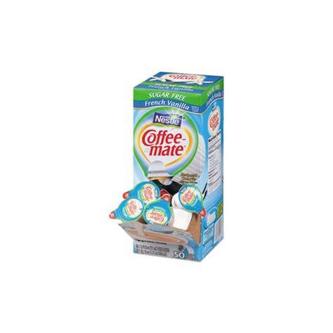 Coffee mate liquid french vanilla single serve creamer, 50pcs x 11ml. Coffee-mate Sugar-Free French Vanilla Creamer - NES91757 - Shoplet.com