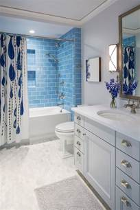 Light Blue Subway Tile Bathroom by Traditional Coastal Home With Classic White Kitchen Home