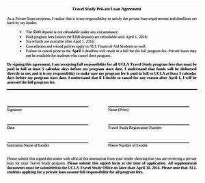 loan contract template 27 examples in word pdf free With private money lending documents