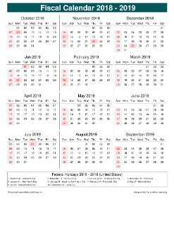 fiscal calendar horizontal week underline  month split