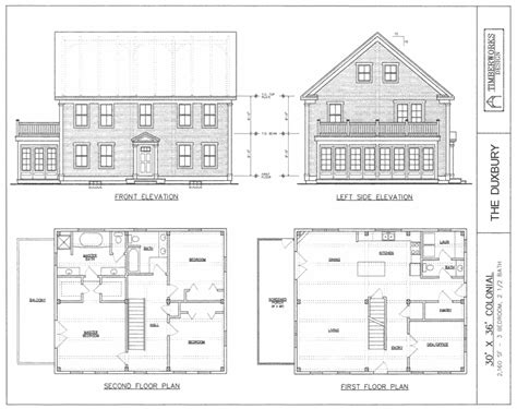 colonial home plans post beam house plans and timber frame drawing packages