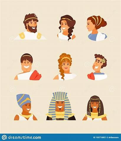 Ancient Greek Roman Vector Egyptian Appearance Greeks