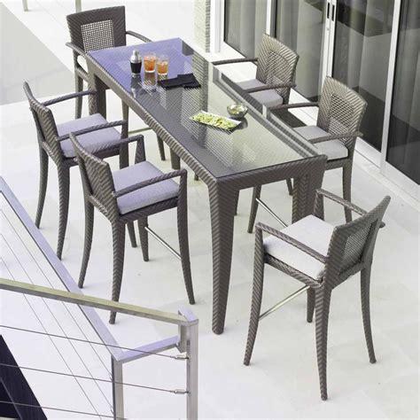 Garden Table And Chairs Sale by Skyline Design Rectangular Garden High Bar Table