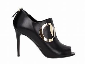Gucci high heels ankle boots in black leather - Mod