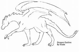Dragon Outline by Kiode on DeviantArt