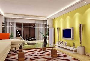 yellow living room tv wall with speakers interior design With living room furniture with yellow walls