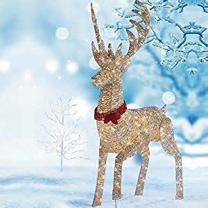 64 quot 1 6m led reindeer outdoor indoor decoration 240 white led lights co uk