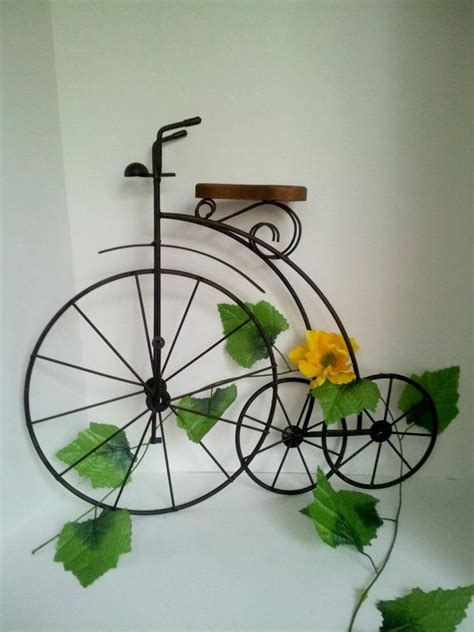 Bicycle Porchhome Decoration Metalwood  Cycling Home