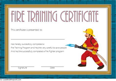 firefighter certificate template  latest designs