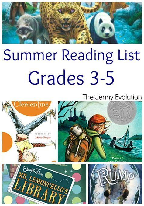 summer reading list for grades 3 5 the jenny evolution