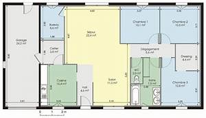 modele plan maison plain pied ventana blog With exemple des plans de maison