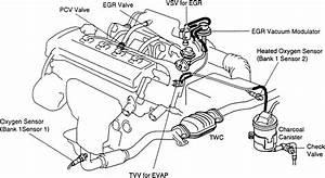 91 Toyota Engine Emission Control System Diagram