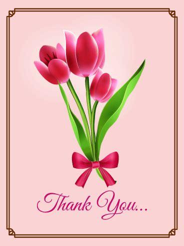 pink tulip   card birthday greeting cards  davia