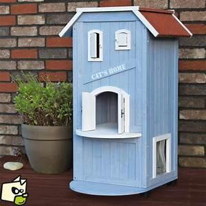 Maison Pour Chat Extérieur : niche en bois pour chat cat 39 s home polytrans ~ Premium-room.com Idées de Décoration
