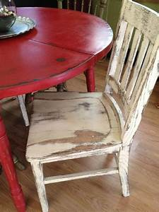 Antique White Distressed Kitchen Table