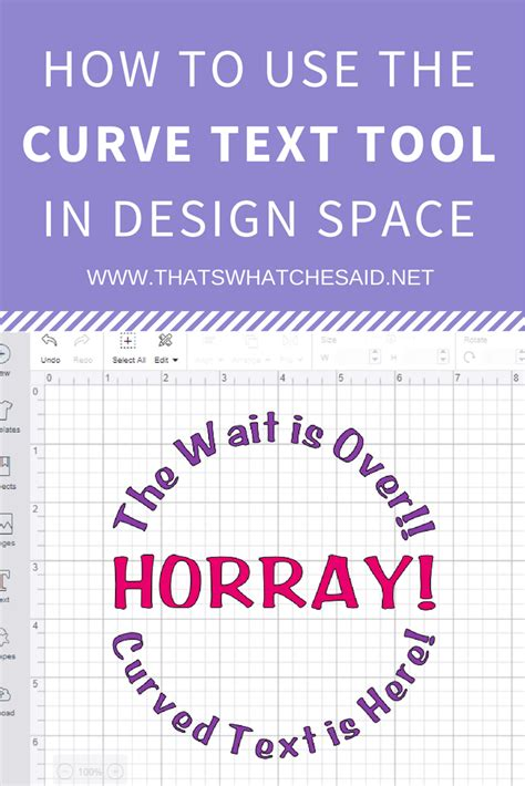 How To Curve Text In Cricut Design Space  That's What {che} Said