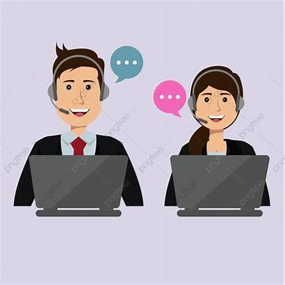 Call Center Male Vector Female Clipart Support