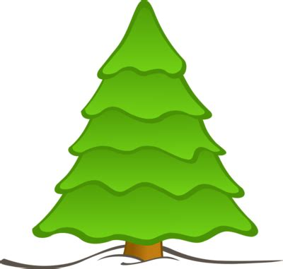 plain christmas trees clipart best