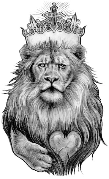 Lion Tattoo PNG Transparent Free Images | PNG Only