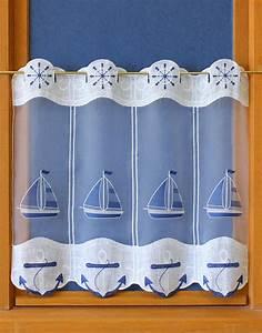Rideau Brise Bise Lin Dentelle : rideaux brise bise marine ~ Teatrodelosmanantiales.com Idées de Décoration
