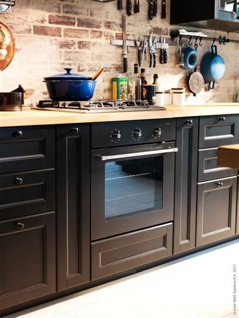 cuisine method ikea ikea rustic with method in laxarby black kitchens