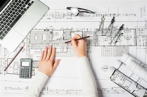 drafting tools of drawing architect photo free