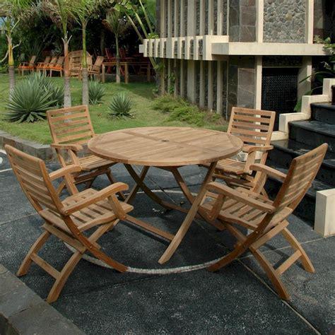 teak bahama 4 person teak patio dining set