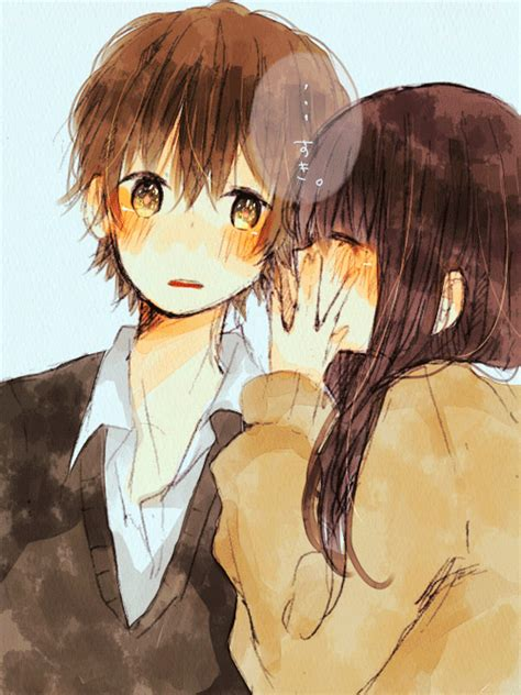 Anime Kiss Gif Cute Anime Couple Cute Tumblr