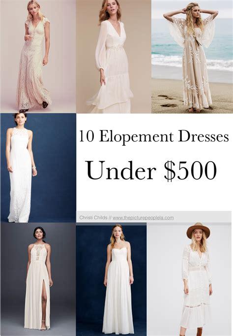 gorgeous elopement dresses    christi