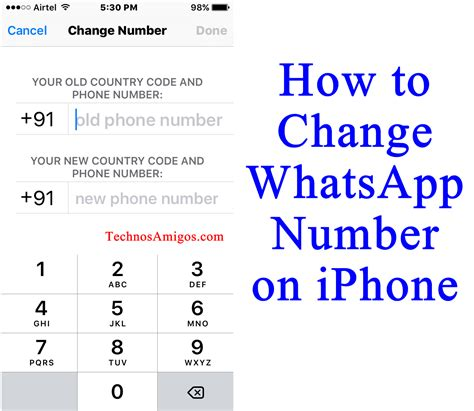 change phone number on iphone how to change whatsapp number on iphone without uninstall