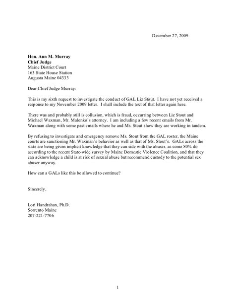 chief judge letter sixth request