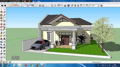 tutorial sketchup desain rumah classic sederhana part